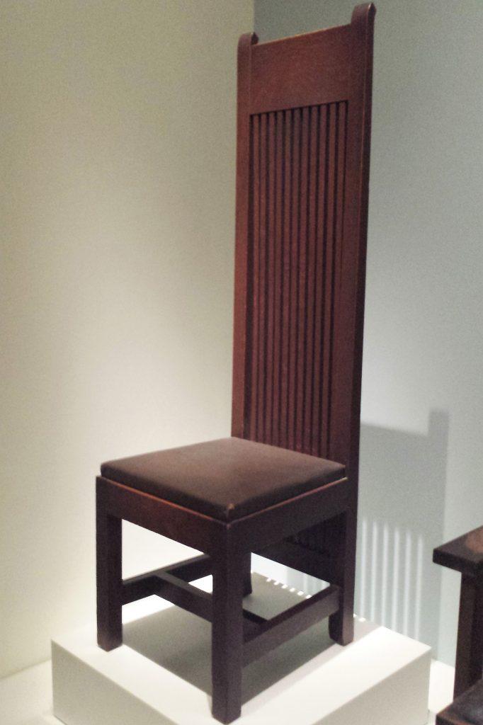 krzesło wright na ekspozycji