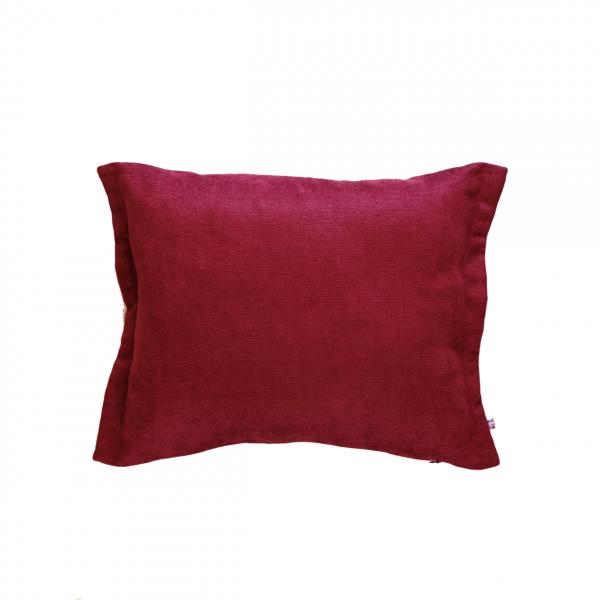 bordowa poduszka