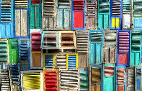 kolorowe okiennice